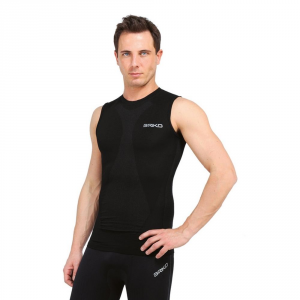 Briko Tank Top Compression Muscular Man Intimate Sports Black 100068