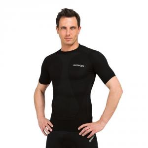BRIKO T-shirt compressione muscolare unisex intimo sportivo nero 100069