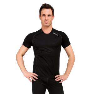 BRIKO T-shirt maniche corte invernale antivento uomo WINDOUT nero 100058