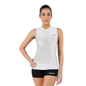 Briko Tank Top Compression Muscular Woman Intimate Sports White 100074