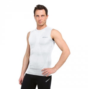 Briko Tank Top Compression Muscular Man Intimate Sports White 100068