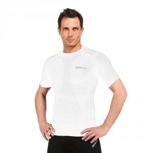 BRIKO T-shirt compressione muscolare unisex intimo sportivo bianco 100069