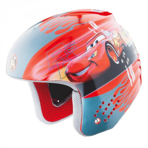 Briko Helmet Ski Descent Junior Cap Abs Rookie Disney Cars Red 100087