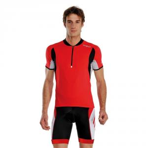 BRIKO Maglia ciclismo spinning maniche corte uomo PROKARE rosso bianco 100135