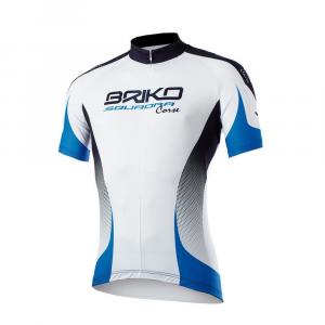 BRIKO Maglia ciclismo spinning maniche corte uomo KLUB bianco blu nero 100152