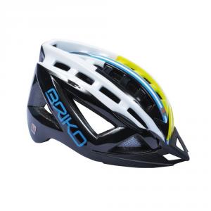 BRIKO Casco ciclismo e mountain bike unisex 5.0 nero giallo fluo bianco 100529