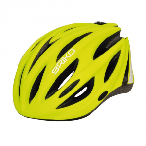 BRIKO Casco ciclismo bike adulto unisex SHIRE giallo fluo 100569