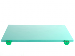 BERTOLI Tagliere plastica verde con batterie 60x40x2 Utensili da cucina