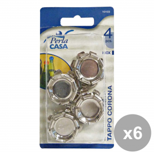 Set 6 Cap Crown Inox Pieces 4 10103 Accessories For the House