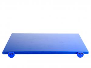 BERTOLI Tagliere plastica blu con batterie 60x40x2 Utensili da cucina