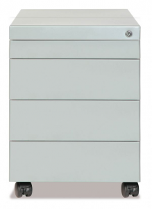Chest Of Drawers Metal On Wheels With 3 Drawers + Drawer Stationery Shop 42x58x63