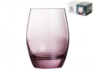 ARC Set 6 Bicchieri Vetro Malea Purple Cl30 Arredo Tavola