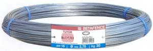 BETAFENCE Set 25 Filo Acciaio Tutor Trigalv N 17 Mm 3,0 Recinzioni-Chiodi
