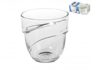DURALEX Set 12 x 4 bicchieri in vetro wave trasparente cl22 Arredo tavola