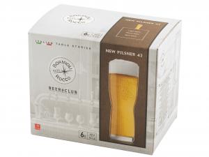 BORMIOLI ROCCO Set 6 Bicchieri In Vetro Birra Newpilsner 42 Cl
