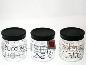 BORMIOLI ROCCO Set 6 Vessels Glass Giara Sugar 0.75 lt Decoration House