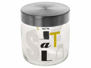 BORMIOLI ROCCO Set Set Of 6 Glass Jars Jar Letters Salt Lt 0.75