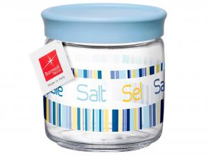 BORMIOLI ROCCO Set Set Of 6 Glass Jar Jars Salt Lt 0.75 Cap Blue