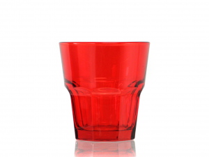 CHIO Set 6 cups water medina 27 red Glasses and wine glasses