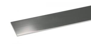 Set 5 Profilo Alluminio Cromato Piatto Mm 25X2 Mt 2 Recinzioni-Chiodi