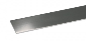 Set 5 Profilo Alluminio Cromato Piatto Mm 20X2 Mt 2 Recinzioni-Chiodi