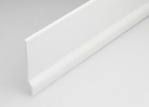 Set 10 Battiscopa Pvc Bianco Altezza Mm 65 Mt 2 Recinzioni-Chiodi