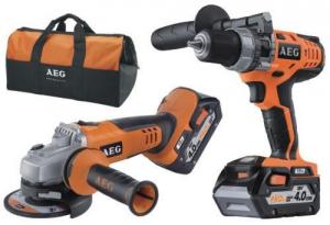 AEG 18V Kit Bsb18Cli-402C + Bews 18-115 / 0 Werkzeuge