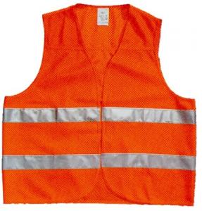 Gilet Polietilene Alta Visibilità Colore Arancio Antinfortunistica Protezione