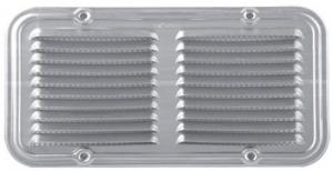 Griglia Alluminio Zincato Con Rete Cm 14X25 Edilizia