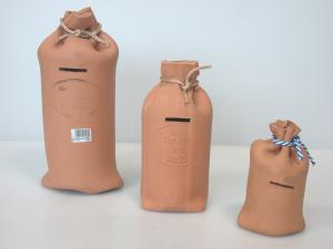 HOME Salvadanaio Ceramica Sacco Grezzo Cm 30 Arredo E Decorazioni Casa