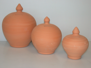 HOME Salvadanaio Ceramica Tondo Grezzo Cm 25 Arredo E Decorazioni Casa