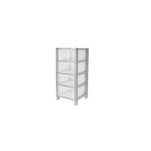 FACILITY Drawer tower 4 drawers gray metal Home furniture and furnishing