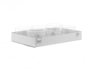 H&H Set 6 Porta Tealight Vetro Trasparente