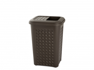 TONTARELLI Arianna Trash Can With Lid pocket 10lt Wenge