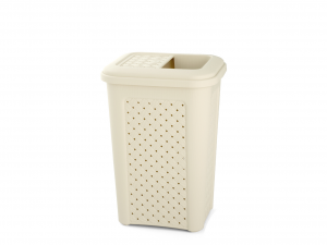 TONTARELLI Arianna Dustbin Lid 10lt Beige With Pocket