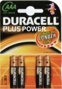 Set 10 Batterie Duracell Plus Power Alkaline Mini Stilo Lr03/Mn2400 Pz4 Materiale Elettrico