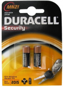 Set 10 Batterie Duracell Security Alkaline Mini Mn 21 12V Pz2 Materiale Elettrico