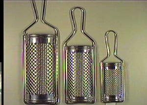 BIANCHI Set 12 Grattugie inox cm 13 Utensili da cucina