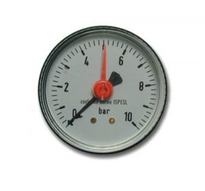 Manometro Per Autoclavi Attacco Posteriore M-63 0-10 Idraulica Pompe Elettriche