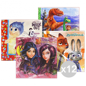 Set 12 Gabbiano Napkins Disney 27672 33x33 Assorted For Parties And Opportunities