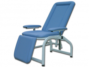 Armchair Donors Polyurethane Blood Blue With Structure Metallic And Armrests