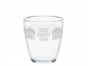 COSMOPLAST Set 4 Bicchiere Homesweethome Cl30 Arredo Tavola Tessili