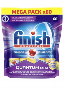 Finish Quantum Max 60 Lemon Tabs Pads Dishwasher
