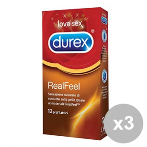 Durex Set 3  Feel 12 Condoms Hypoallergenic Condom Condoms Contact Skin