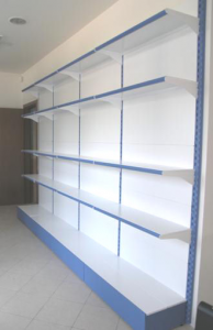 Shelf Metal shelf-to-wall shelves 97x30x200 Cm Modular