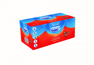 DUREX LOVE Big Pack 144 Pezzi Condom Preservativi sottili lubrificati profilattici massimo comfort