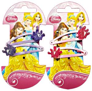 GABBIANO Clic-Clac Disney Princess Corona 2 Pezzi 36642 (36063) Accessorio Per Capelli