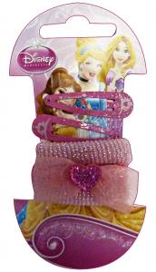Gabbiano Clic-clac + Elastics Disney Princess Mini 6 Pieces 36065 Accessory For Hair