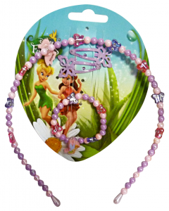 GABBIANO Cerchietto + Bracciale Disney Fairies 36658 (36076) Accessorio Per Capelli