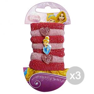 Set 3 Gabbiano Elastics Disney Princess Cinderella 7 Pieces 36665 36064 Accessory Hair
